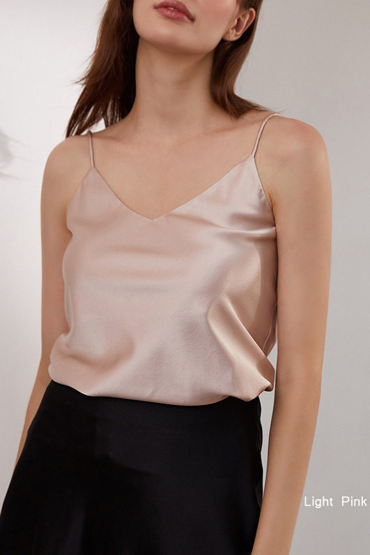 women multiple colors silk and satin camisole top