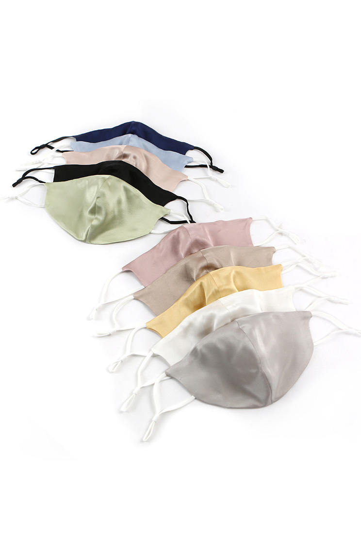 19 Momme Silk Ear Loops Washable Satin Protective Face Mask